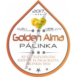 """Golden Alma pálinka címke - """"Rain"""""""