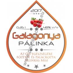 "Galagonya pálinka címke - ""Rain"""