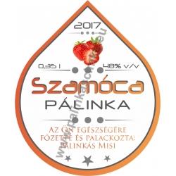 "Szamóca pálinka címke - ""Rain"""