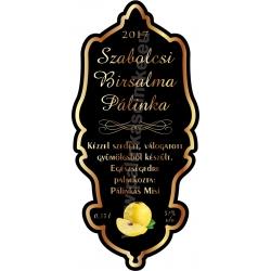 "Birsalma pálinka címke - ""Idea"""