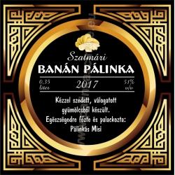 """Banán pálinka címke - """"Gatsby"""""""