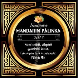"""Mandarin pálinka címke - """"Gatsby"""""""