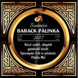 """Barack pálinka címke - """"Gatsby"""""""