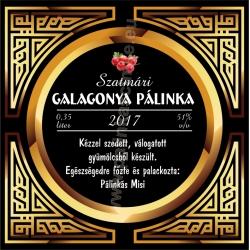 """Galagonya pálinka címke - """"Gatsby"""""""