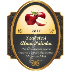 """Alma pálinka címke - """"Elite"""""""