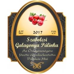"Galagonya pálinka címke - ""Elite"""