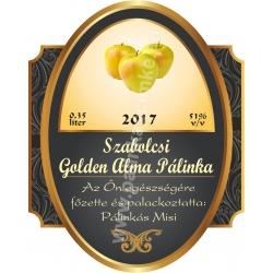 "Golden alma pálinka címke - ""Elite"""