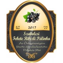 """Fekete ribizli pálinka címke - """"Elite"""""""