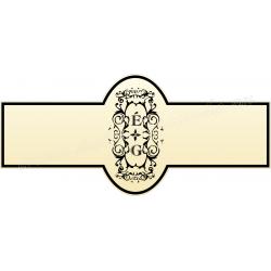 Nyak címke - Esküvőre - Arany Homokfúvott fólia