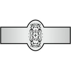 Nyak címke - Esküvőre - Homokfúvott fólia
