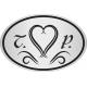 Ovális Nyak címke - Esküvőre - Homokfúvott fólia