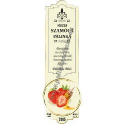 """Szamóca pálinka címke - """"SLIM DECOR"""""""