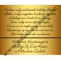 """Karácsonyi pálinka címke - """"Pine Gold"""" hátcímke"""