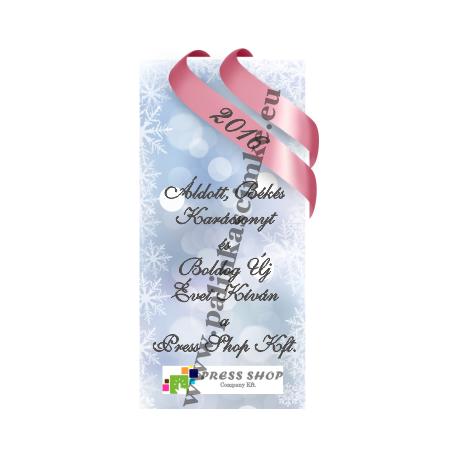 """Karácsonyi pálinka címke - """"Xmas Cold"""" hátcímke"""