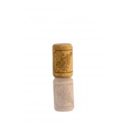 Agglomerált boros üveg dugó - szőlőfürt mintával