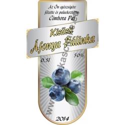 """Áfonya pálinkás címke - """"Serene"""""""
