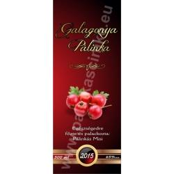 "Galagonya pálinka címke - ""Rufous"""