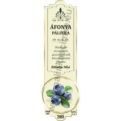 """Áfonya pálinka címke - """"SLIM DECOR"""""""