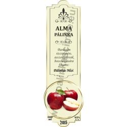"""Alma pálinka címke - """"SLIM DECOR"""""""
