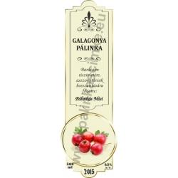 "Galagonya pálinka címke - ""SLIM DECOR"""