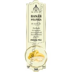 """Banán pálinka címke - """"SLIM DECOR"""""""