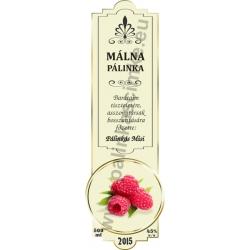 """Málna pálinka címke - """"SLIM DECOR"""""""