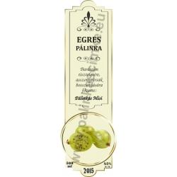 "Egres pálinka címke - ""SLIM DECOR"""