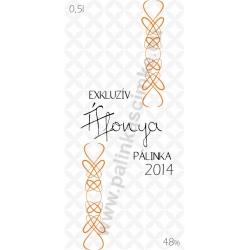 """Áfonya pálinka címke - """"EXCLUSIVE"""""""
