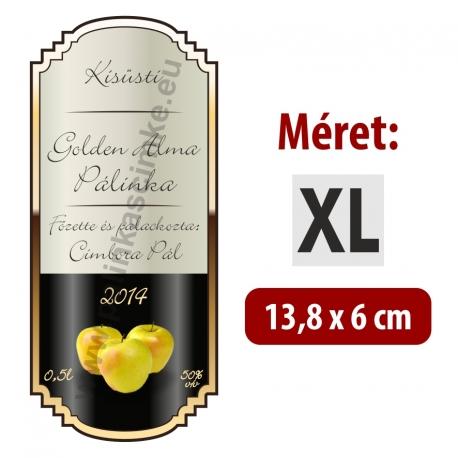 """Golden Alma pálinkás címke - """"elegant"""""""