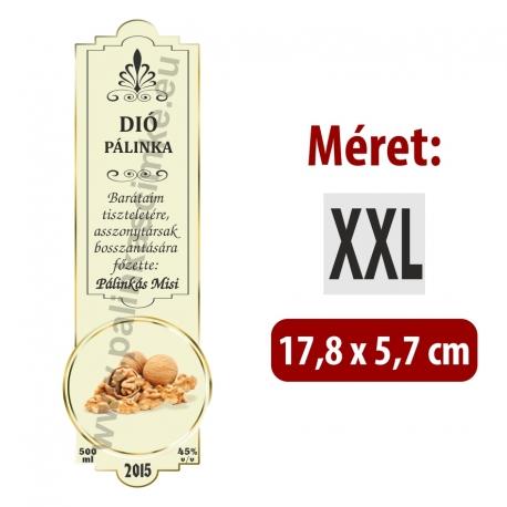 """Dió pálinka címke - """"SLIM DECOR"""""""