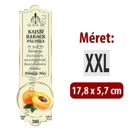 """Kajszibarack pálinka címke - """"SLIM DECOR"""""""