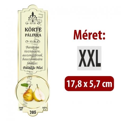"""Körte pálinka címke - """"SLIM DECOR"""""""