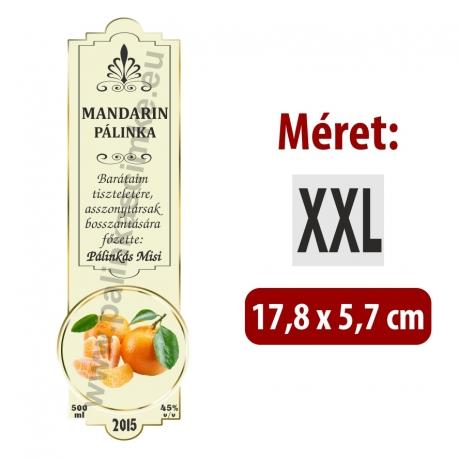 "Mandarin pálinka címke - ""SLIM DECOR"""