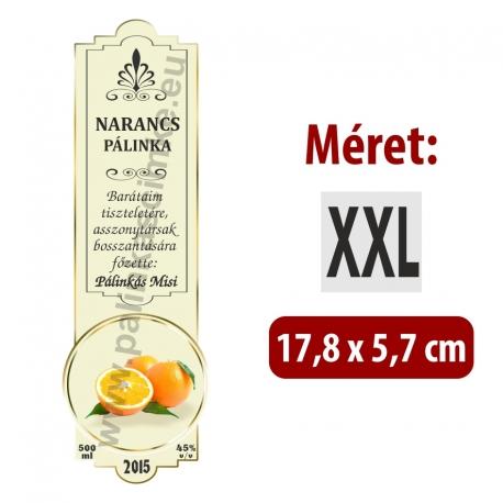 """Narancs pálinka címke - """"SLIM DECOR"""""""