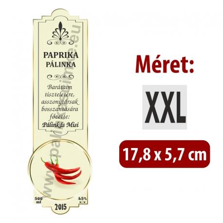 """Paprika pálinka címke - """"SLIM DECOR"""""""