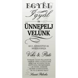 Esküvőre pálinkás címke szett - homokfúvott fólia
