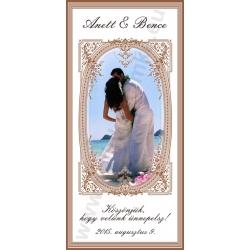 Esküvőre pálinkás címke - fehér