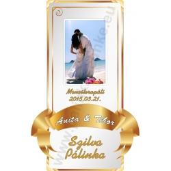 Esküvőre pálinkás címke - gold