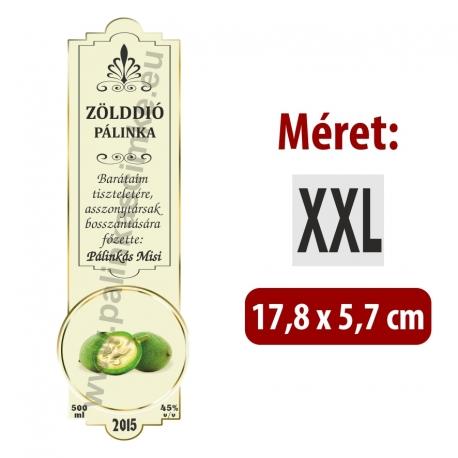 """Zölddió pálinka címke - """"SLIM DECOR"""""""
