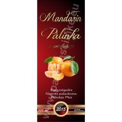 "Mandarin pálinka címke - ""Rufous"""