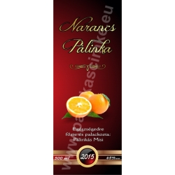 "Narancs pálinka címke - ""Rufous"""