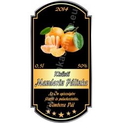 """Mandarin pálinkás címke - """"Goldfield"""""""