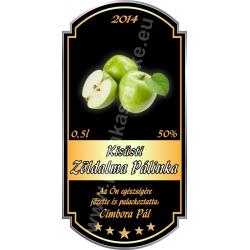 """Zöld alma pálinkás címke - """"Goldfield"""""""