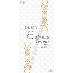 "Egres pálinka címke - ""EXCLUSIVE"""