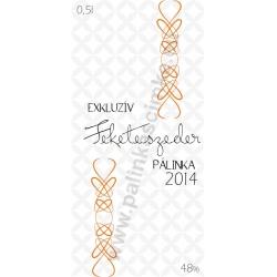 """Feketeszeder pálinka címke - """"EXCLUSIVE"""""""