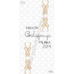 "Galagonya pálinka címke - ""EXCLUSIVE"""