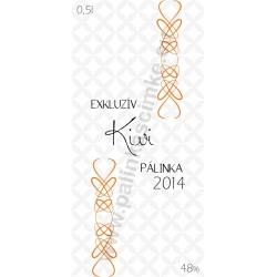 """Kivi pálinka címke - """"EXCLUSIVE"""""""