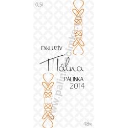 """Málna pálinka címke - """"EXCLUSIVE"""""""