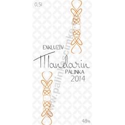 "Mandarin pálinka címke - ""EXCLUSIVE"""