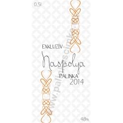 """Naspolya pálinka címke - """"EXCLUSIVE"""""""